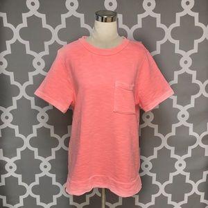 J. Crew Neon Pink Oversized Sweatshirt 7N